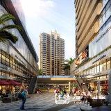 大規模の商業複雑な建物のレンダリング
