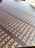 로고로 인쇄되는 1220*2440 20mm WBP 유칼리나무 필름에 의하여 직면되는 합판
