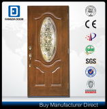 Leistungsfähiger klassischer Fertigkeit-energiesparender Landhaus-Eingangs-hölzerne Fiberglas-Tür