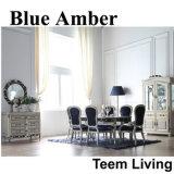 Blauer bernsteinfarbiger klassischer Art-Esszimmer-Speisetisch (BA-1202)