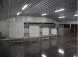 강철 구조물 닭장의 두 배 지면