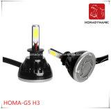 farol H1 H3 H4 H7 9005 9006 do diodo emissor de luz do farol 40W 4000lumen G5 do diodo emissor de luz de 4300k 6000k 8000k