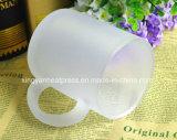 taza blanca helada 11oz del vidrio de la capa