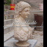 Bello busto antico del travertino per il mestiere Ms-2387