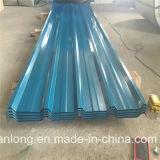 Feuilles de toiture de PPGI/tôle acier ondulée de couleur