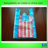 Sacchetti della maniglia dell'HDPE con la banda variopinta