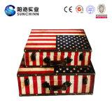 Античный деревянный чемодан хранения с типами флагов (SCSC00024)