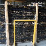 Mattonelle di marmo nere italiane di Portoro delle lastre naturali