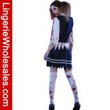 Traje sangriento asustadizo de Cosplay de la muchacha de la escuela de los zombis del partido de Víspera de Todos los Santos del estudiante
