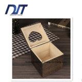Декоративная бежевая крышка лицевой ткани/Refillable деревянная коробка держателя салфетки кухни