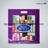 Kundenspezifische PET PlastikEinkaufstasche gestempelschnittener Griff-Beutel mit Firmenzeichen-Drucken