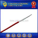 Câble électrique de silicones de couleur rouge