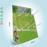 Support en papier vert avec crochet en plastique de 3 pièces