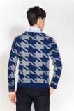 De Jacquard van de manier om Hals breit de Sweater van de Mens