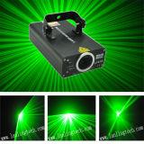 La singola discoteca DJ del laser di verde si illumina