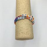 Nuevo estilo de pulsera hecha a mano de tejer con aleación