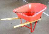 木のハンドルが付いている高品質Wh6601の一輪車