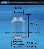 Transparente Hexgonal Glaswaren mit Schrauben-Kappen