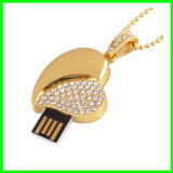 Mecanismo impulsor cristalino del flash del USB de memoria Flash del USB del corazón