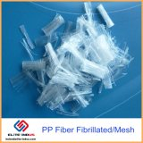 Fibra micro fibrilada protuberancia de Ploymer de la forma del acoplamiento del polipropileno