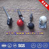 黒いナイロン旋回装置のプラスチック足車の車輪(SWCPU-P-W074)