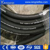 Spirale-hydraulischer Gummischlauch des Edelstahl-SAE100r9/R12