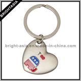 Llavero de encargo de alta calidad en forma de corazón para la Promoción (BYH-101038)
