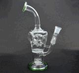 Neuester Entwurfs-rauchendes Wasser-Glasrohr mit dem Drehen von Perc