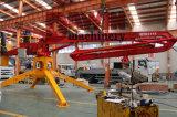 Asta idraulica montata camion della pompa per calcestruzzo con un rimorchio delle 4 rotelle