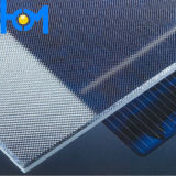 3.2mm Tempered Arc Super White Solar Panel Glass con l'iso, SPF, SGS