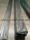 Feuille verte/grise de bâche de protection de PE, couverture de bâche de protection de PE