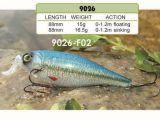 Attrait de pêche détraqué de l'amorce 88mm de Bill de première pente d'Aaaaa seul