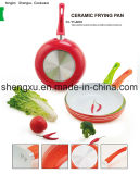 De handvat Met een laag bedekte Non-Stick Pan van het Aluminium voor Cookware Reeksen sx-A18