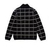 Button를 가진 겨울 Striped Knitted Men Cardigan