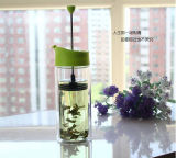 портативная французская чашка давления чая стекла бака давления кофеего 450ml для оптовой продажи