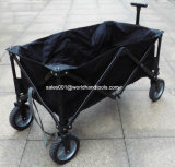 Outdoor Heavy Duty Multi Directions Folding Utility Wagon Preto, Azul
