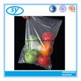Sacs en plastique clairs de nourriture estampés par coutume sur le roulis