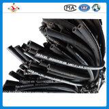 Le fil d'acier s'est développé en spirales le boyau en caoutchouc hydraulique 4sp de boyau en caoutchouc