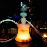 Стеклянный кальян Shisha с СИД освещает шланг кремния без кожаный случая (ES-HS-001)