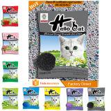 Litière du chat colorée respectueuse de l'environnement du bentonite 2016