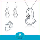 Classsic all'ingrosso 925 Sterling Silver Jewelry Set con la CZ (J-0122)