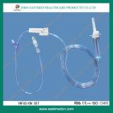 IV вливание трансфузии IV установленной медицинской поставки вливания устранимое установленное с замком Luer