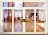 고품질 석쇠를 가진 주문을 받아서 만들어진 백색 색깔 열 틈 알루미늄 미닫이 문