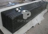 Encimera de piedra del vector del granito (granito negro)
