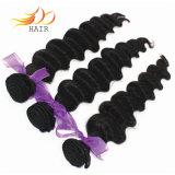 8A 100%の加工されていない毛の織り方のマレーシアの人間のバージンの毛