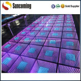 디스코 Mirror 3D Colorful LED Dance Floor