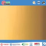 De kleur bedekte het Decoratieve Blad van het Roestvrij staal met SGS Ios met een laag