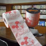 Fournisseur estampé de vente en gros de papier de soie de soie de toilette