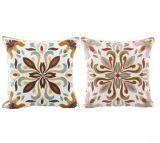 Stile decorativo del classico di disegno del fiore della cassa del cuscino del coperchio dell'ammortizzatore del ricamo delle lane della tela di canapa del cuscino del cotone
