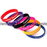 Sport-Armband-Form-Zubehör-Armband-kundenspezifischer Firmenzeichen Silicn Wristband